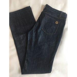 Tory Burch Classic Tory Jeans Dark Boot Cut Denim